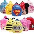Nova bonito dos desenhos animados para crianças saco de escola mochila de pelúcia brinquedo mini Superman presentes das Crianças da menina do menino do bebê do jardim de infância sacos de estudante