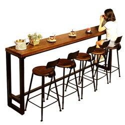 Современный деревянный металлический высокий барный стол, простой домашний журнальный барный столик на стенке, боковые высокие барные сто...