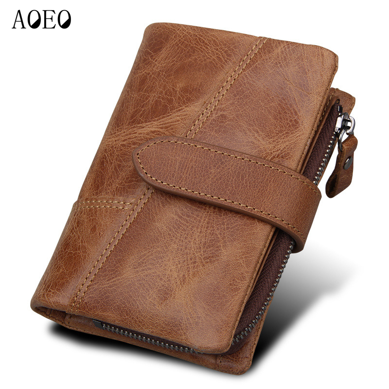 AOEO Men Wallets Separable Coin Pocket Cowhide Leather Genuine 7 Card Holder Passport Patchwork Purse Money Male Wallet Luxury new cowhide leather men middle long wallets black color credit card holder driver s license passport pocket coin purse id wallet