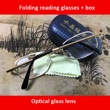 Folding Reading Glasses Glass lenses New WITH BOX Foldable Presbyopia +1.00 1.50 2.00 2.50 3.00 3.50 4.00 Diopter s215