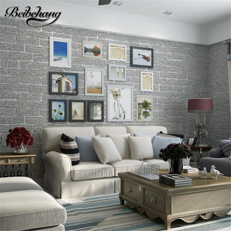 Beibehang haute qualité moderne simple chinois brique motif non-tissé salon chambre fond mur papier peint gris clair