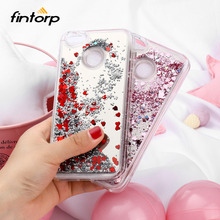 Fintorp Mirror Liquid Quicksand Cases For ZTE A6 L5 A510 A520 A610 V6 Dynamic Love Heart Glitter Covers Bumper Funda Capa