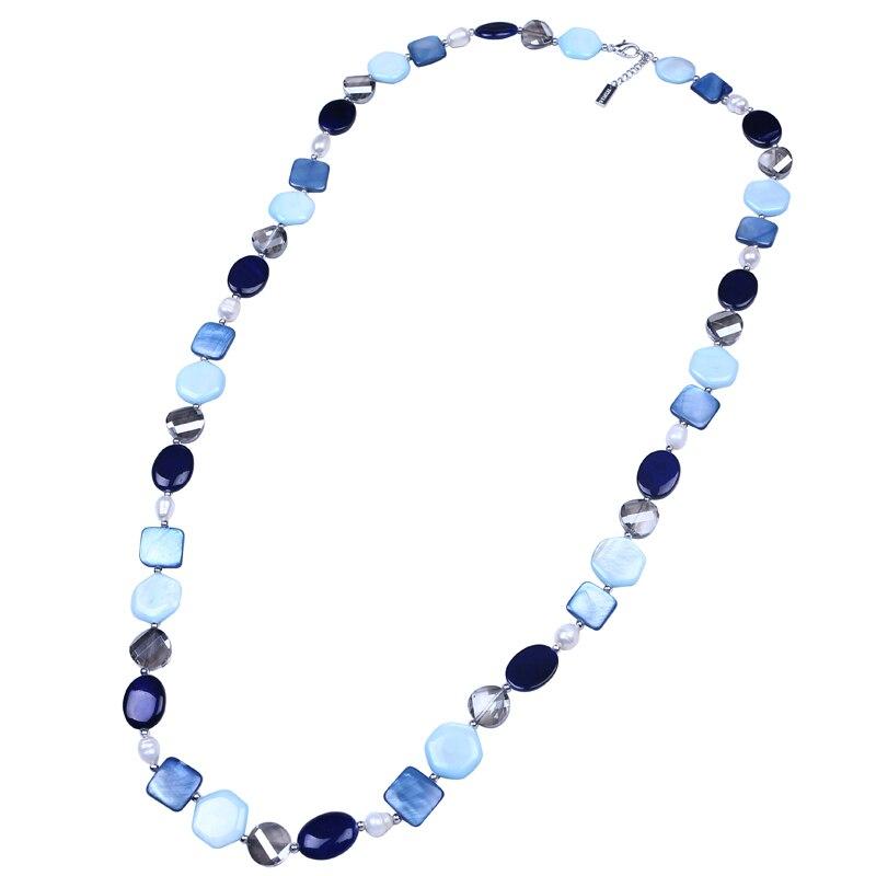 ad00d715626f Disco único oval cuadrado hexágono Shell collar multi-forma geométrica collar  de cuentas de concha hecha a mano playa traje