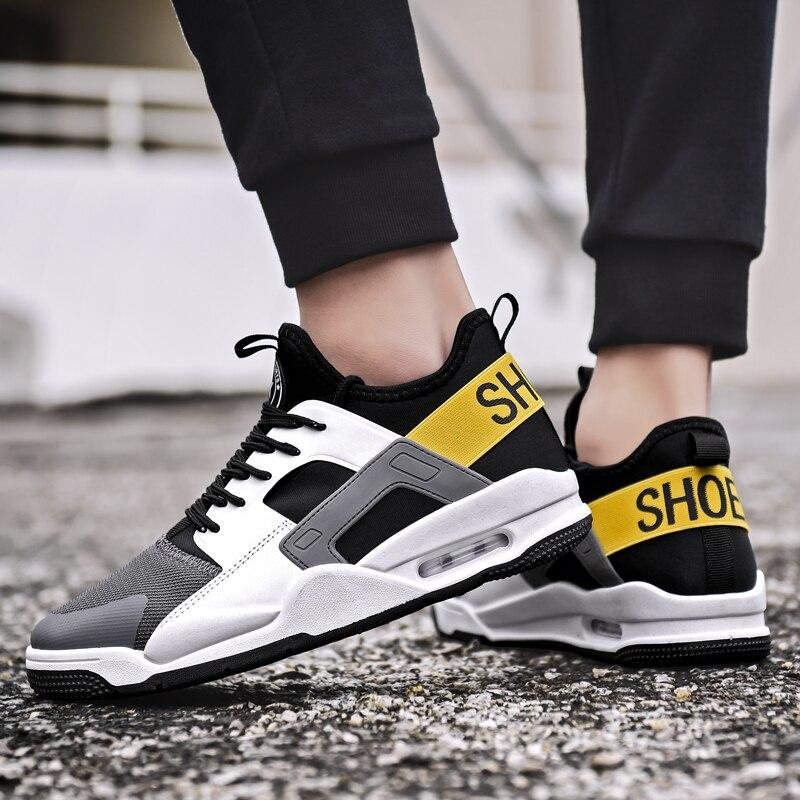 Respirant Chaussures de Course Hommes Sneakers Lace Up Noir Homme Sport Athlétique Chaussures Non-Slip Hommes Formateurs Air En Plein Air Gym chaussures Mâle