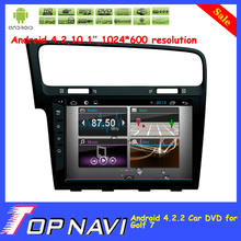 """10.1"""" Quad Core Android 4.4 car navigation multimedia player for Golf 7 with Map Radio BT Capacitive Touch Screen"""