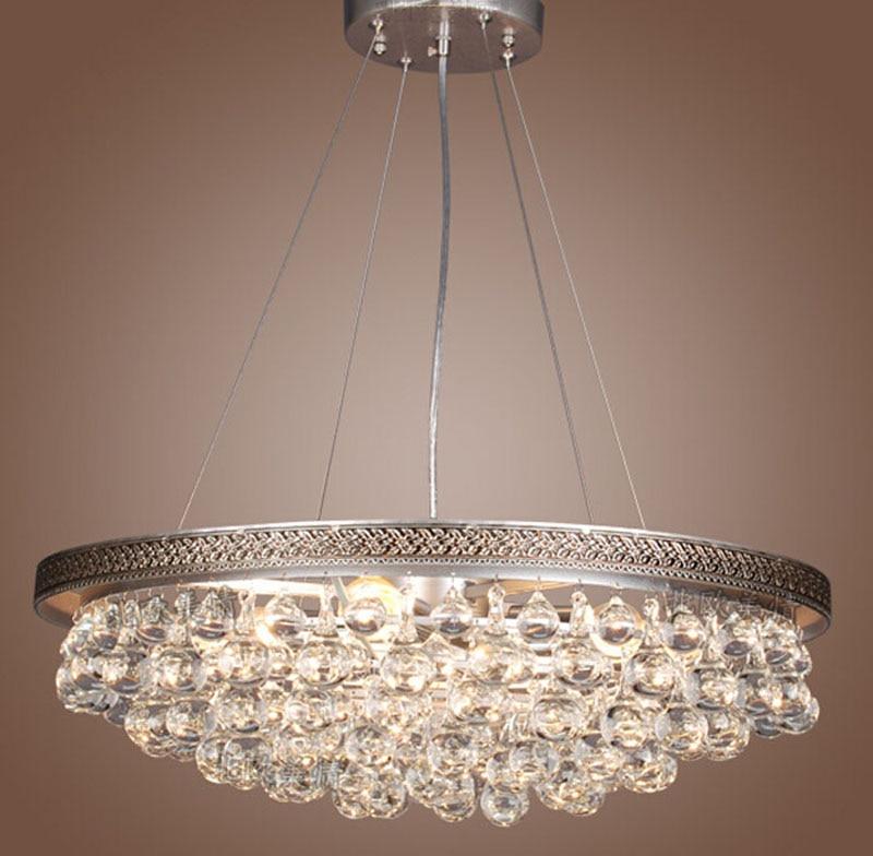 Nordic beauty simple crystal chandelier American rural lamp living room bedroom study chandelier imported European crystal lamp