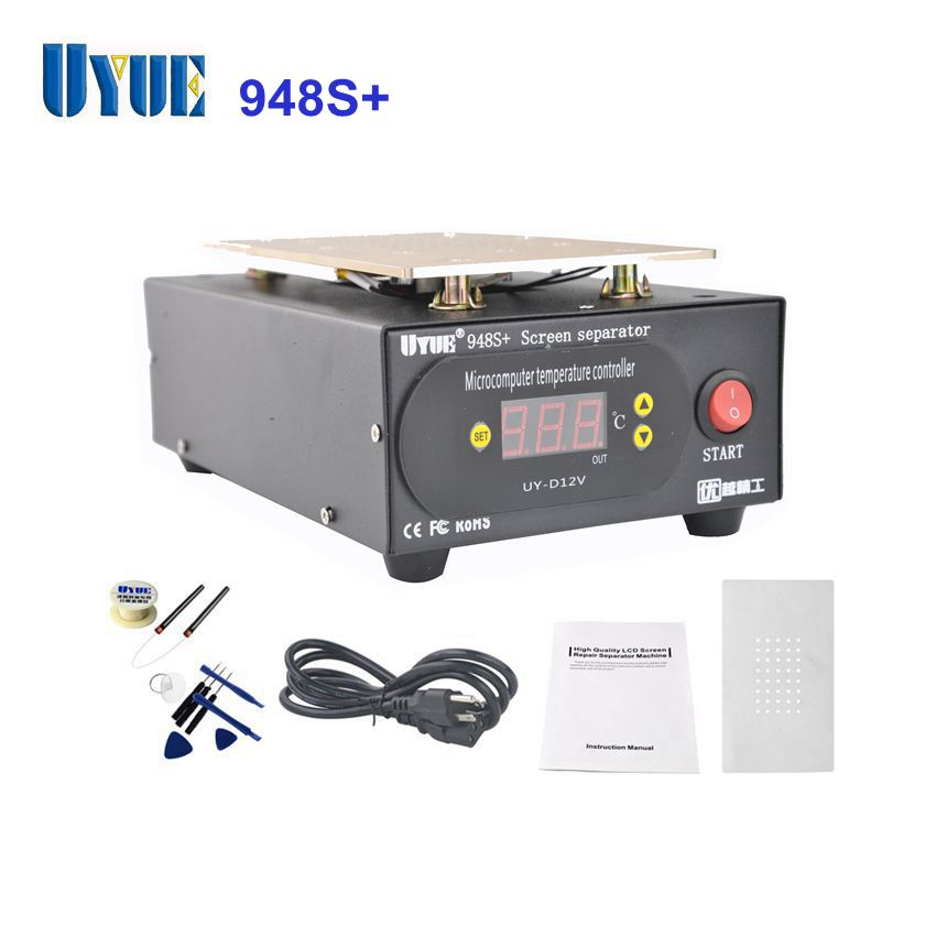 UYUE Latest 948S+ Screen Separator Machine for IPhone For Samsung Refurbish Build-in Pump Vacuum LCD Separator Machine latest build in pump vacuum lcd separator machine screen repair machine kit for iphone for samsung