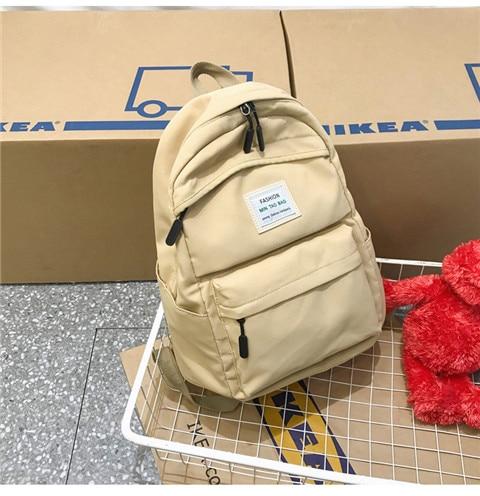 HTB1htl2XF67gK0jSZPfq6yhhFXaY Nylon Backpack Women Backpack Solid Color Travel Bag Large Shoulder Bag For Teenage Girl Student School Bag Bagpack Rucksack