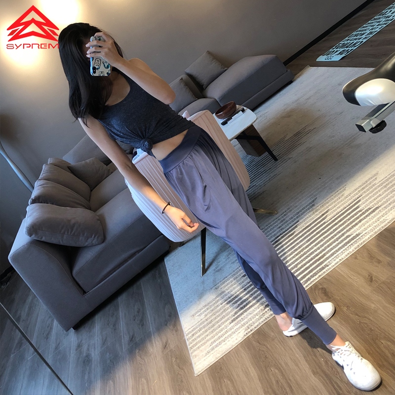 SYPREM Yoga Pants Modaier yoga pants sports fitness pants mid waist elastic new yoga girls yoga pants leggings,YK80121 pocket side elastic waist pants