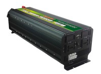 Free Shipping LCD display inverter 5000W 10000W(peak)12v to 220v inverso,Quiet Transformer power inverso