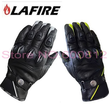 2019 New Authentic French LAFIRE Wolverine Motorcycle riding gloves Knights motorbike racing leather gloves 2 colors and 3 size