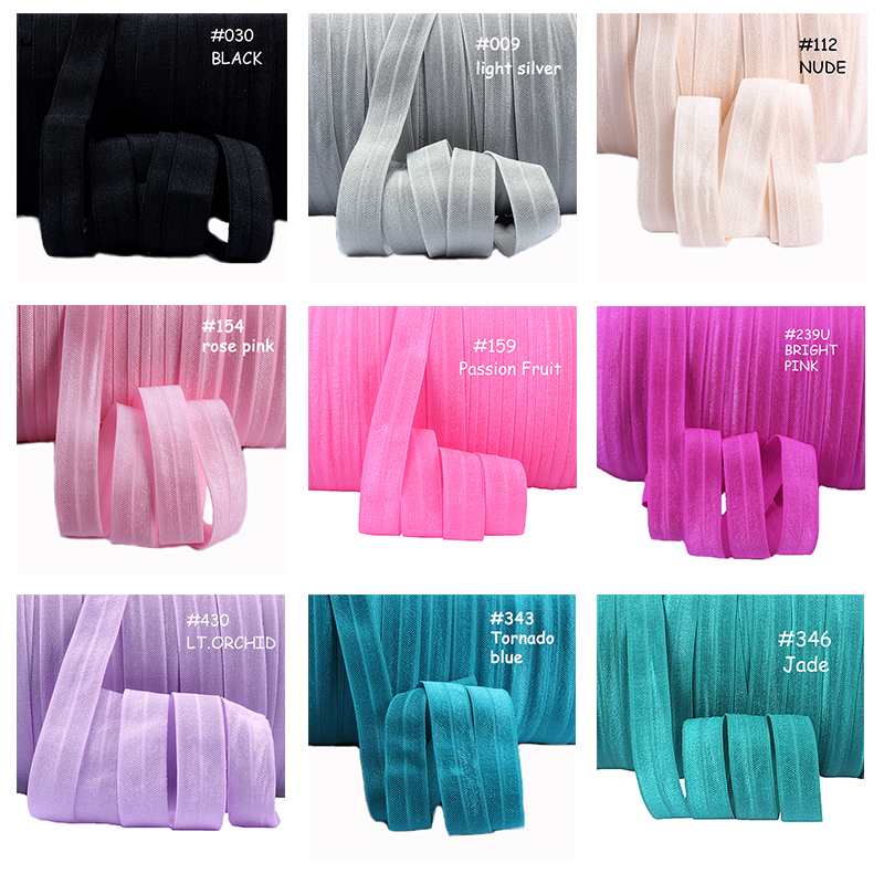 Garment Accessories Foe Ribbon, 80 Colors In Stock Soft 15mm Solid Fold Over Elastic, Pls Note The Color When Place An Order