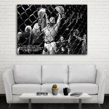 UFC Конор Макгрегор празднует с его двумя первенскими поясами стены картины холст Художественная печать растянутая рамка художественная живопись Декор