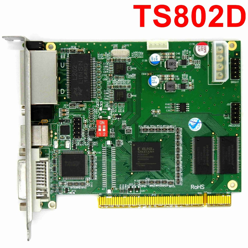 LINSN TS802 Full Color Sending Card RGB synchronous sender LED control card for p3,p4,p10,p6,p16,p20 LED Video TV Wall display