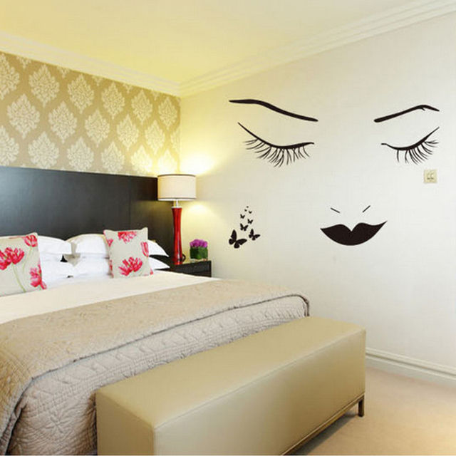 Long Eyelashes Beautiful Wall Stickers Wall Art Bedroom Home Decorations Wall  Decals C