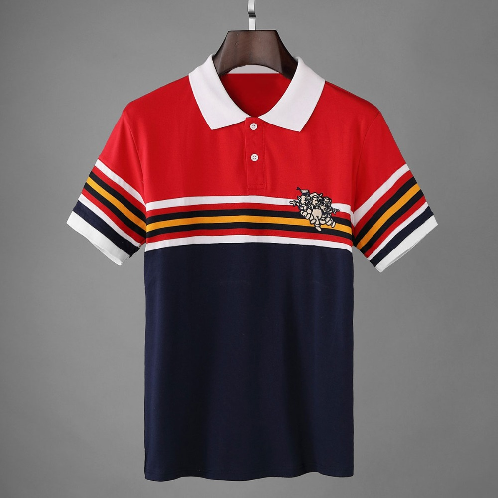 2019 3 Pigs Embroidery Men   Polo   Shirts High Quality Straight Summer Cotton 100% Short Sleeve   Polos   Man Camiseta Fashion Hombre