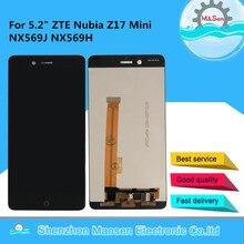 """המקורי M & סן עבור 5.2 """"ZTE נוביה Z17Mini Z17 מיני NX569J NX569H LCD מסך תצוגה   מגע פנל digitizer עבור Z17 מיני תצוגה"""