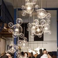 Modern minimalist designer soap bubble mickey glass ball chandelier living room dining room Hanging Lights Fixture110V 220V 230V