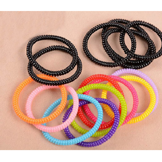 Rope Design Bands: Hairband Hair Bands Rope Elastic Telephone Wire Design For