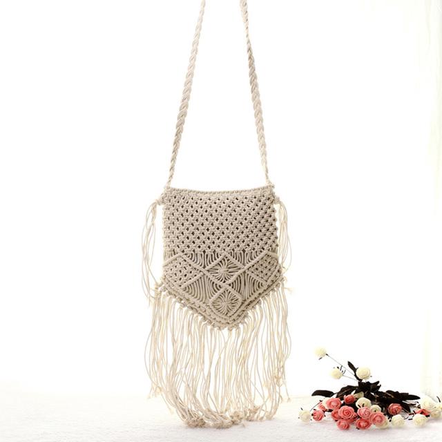 Handmade Bohemian Crochet Crossbody Bag