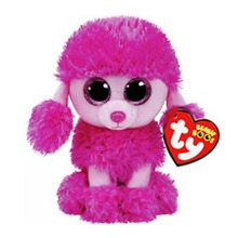 Ty Beanie Boos Stuffed Plush Animals Pink Poodle Toy Doll With Tag 6 15cm