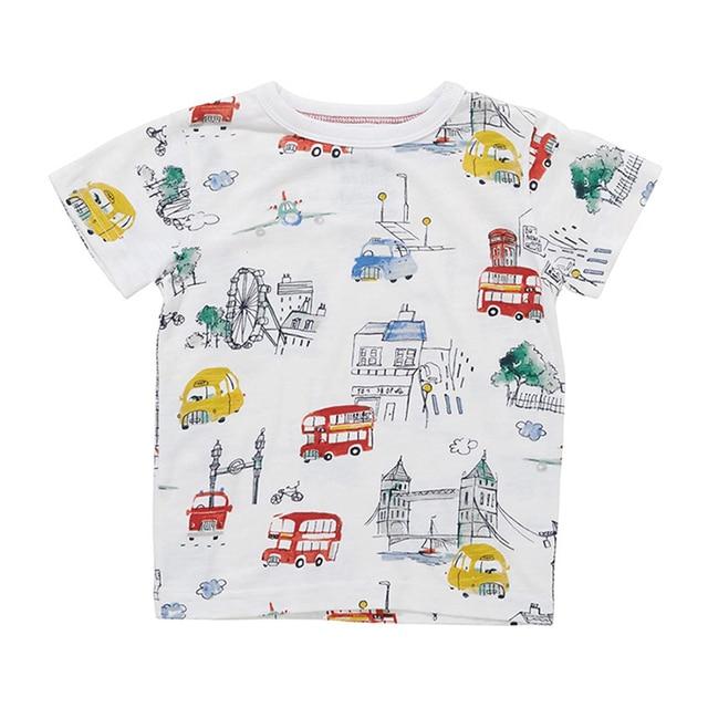 c6dad1986cac Hot Brands 100% cotton 2017 new Children T-shirt boys Short sleeve shirts  Summer Kids Tops Cartoon Baby Boy Clothing Cotton Top