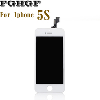 FGHGF Mobile Phone LCD Screen 5PCS Lot For Iphone 5S Display With Touch Screen Grade AAA