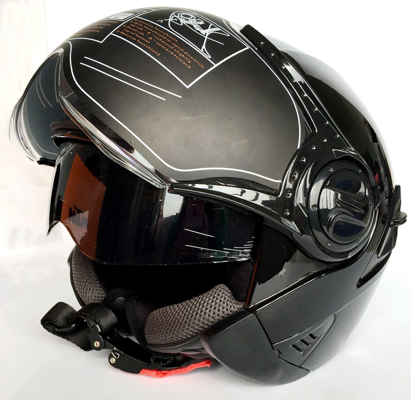 ФОТО Double Lens Motorcycle Helmet Electrical Scooter Capacete Casco Motor Casque HF622