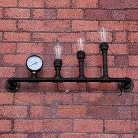 Утюг водопровод настенный светильник, 80 см длинные 3 E27 баз, лофт American Vintage ностальгические балкон лестницы промышленные 110 В 220 В