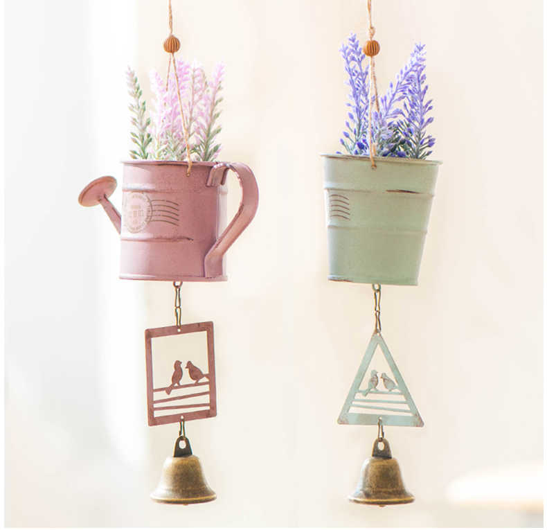 Simple Life Potted Wind Chime Vintage Home Decor Gift Home