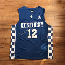 c0b6b9c6b52 2017 New #12 Karl Anthony Towns Kentucky Wildcats College Basketball Jersey  Stitched S-XXL