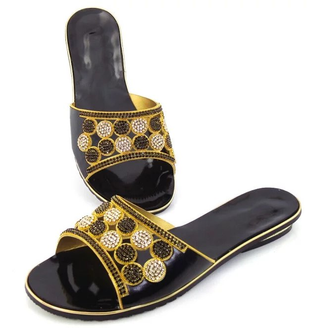 Diseño Con De Zapatos Sandalias Negro Verde Popular Rhinestone 1 Black Para El Los V42 Bajo Vestido Oro Más Mujeres green Tacón gold WqWznO0I