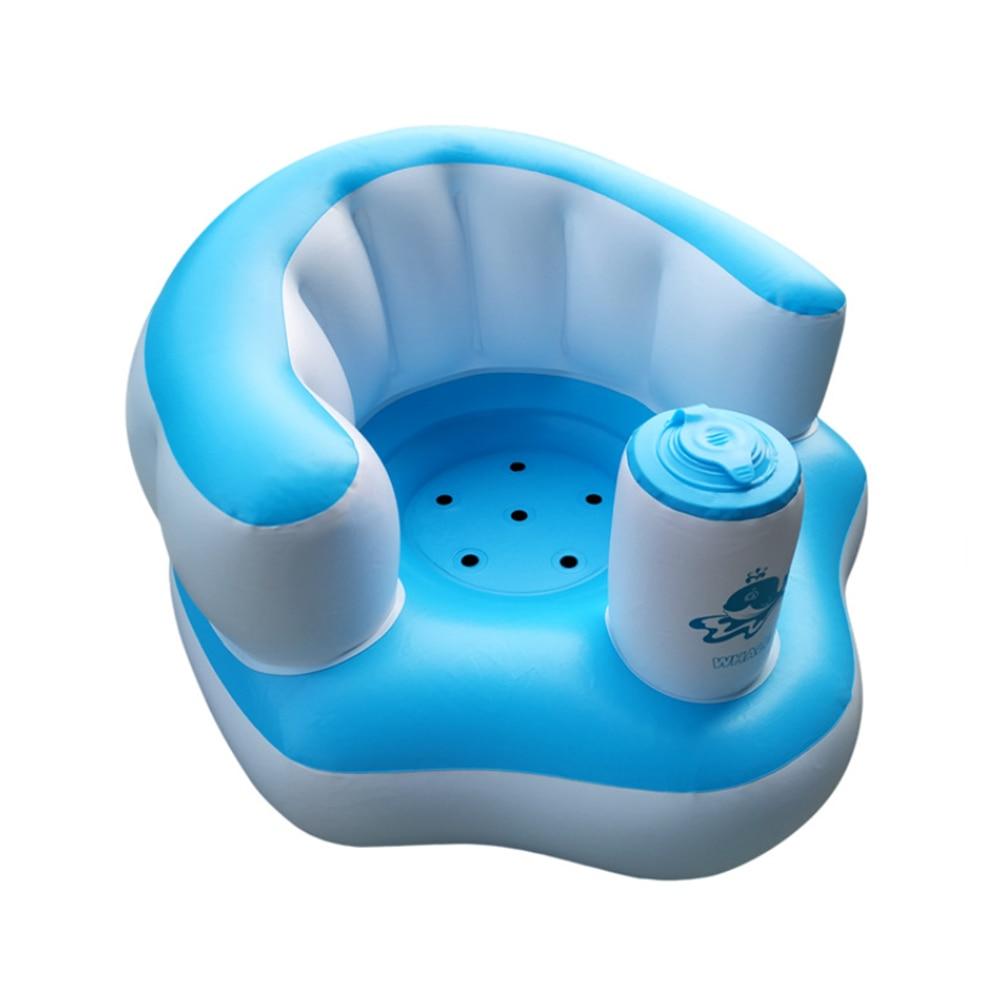 Baby Kid Children Inflatable Bathroom Sofa Chair Seat Learn Portable Multifunctional Feeding Chair Stretch Wrap Baby Sofa