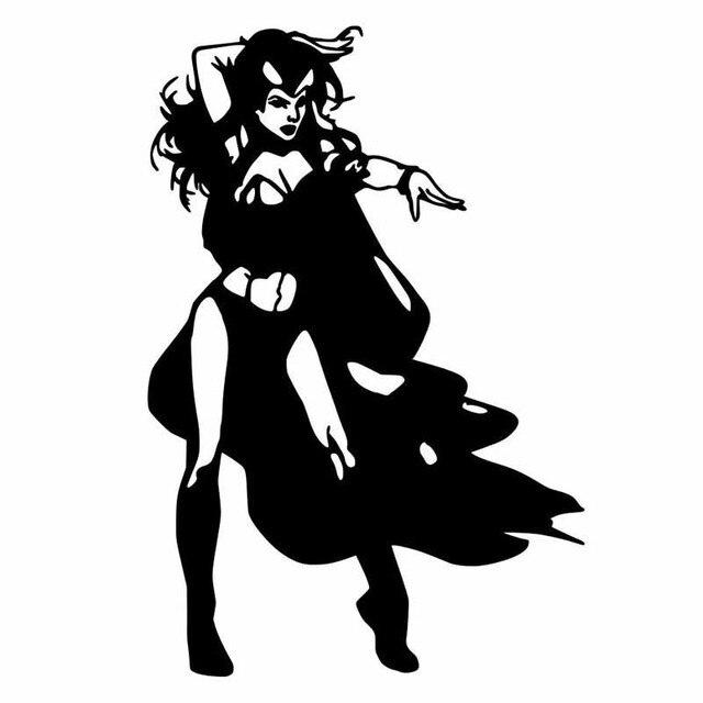 Superhero Family Of Women Personality Car Stickers Cartoon Motorcycle Vinyl  Decals Black/Silver C7-