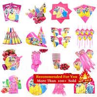Disney princesse fête d'anniversaire décorations fournitures enfants jetables assiettes nappe tasses Cap bébé douche filles faveurs cadeau ensemble