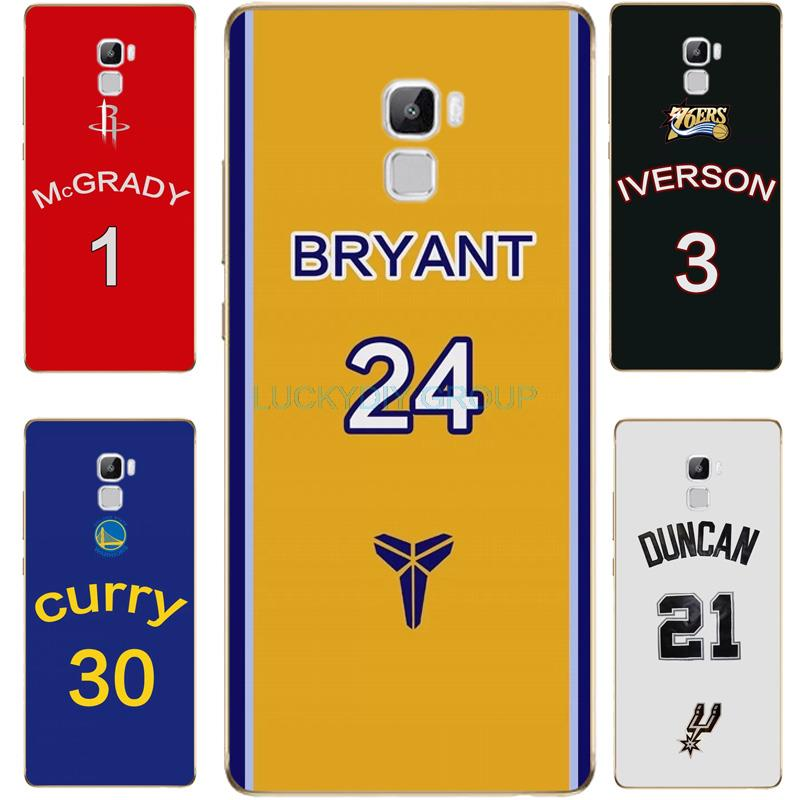 For HUAWEI P9 lite honor7 P9 plus Case NBA Star Kobe Curry Rose Wade Jersey Case
