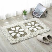 Charming Chenille Carpet Petal Pattern No Slip Practical Absorbent Area Rug Bath Rug Entry Door Rugs For Living Room