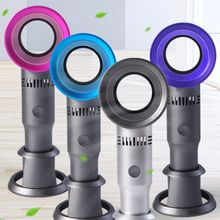 Mini Portable Handheld Bladeless Fan USB Rechargeable Leafless Cooling Cooler with 3 Speed Level