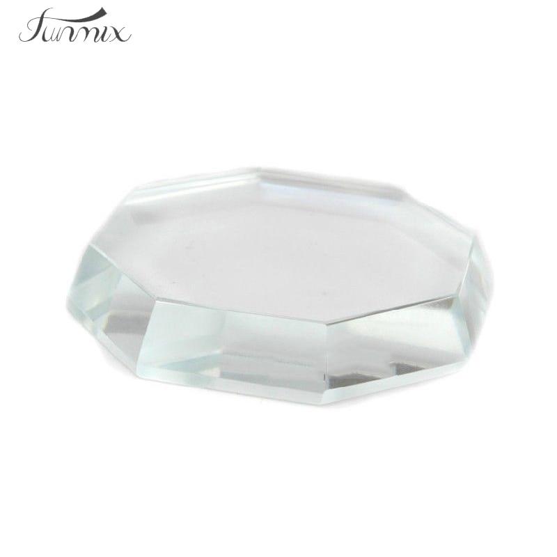 Nová maquiagem Paletka řas Rozšíření nástroje Octagon Crystal lepidlo lepidlo Paletka Makeup Kit Tool Maquiagem