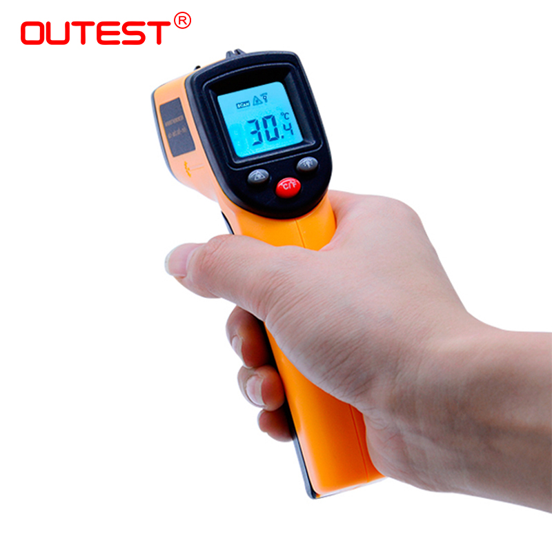 Digital Thermometer GM320 Red Laser Infrared Thermometer Non-Contact IR Pyrometer LCD Temperature Meter Gun Point non contact lcd display ir laser infrared digital temperature meter sensor thermometer gun point with data hold function