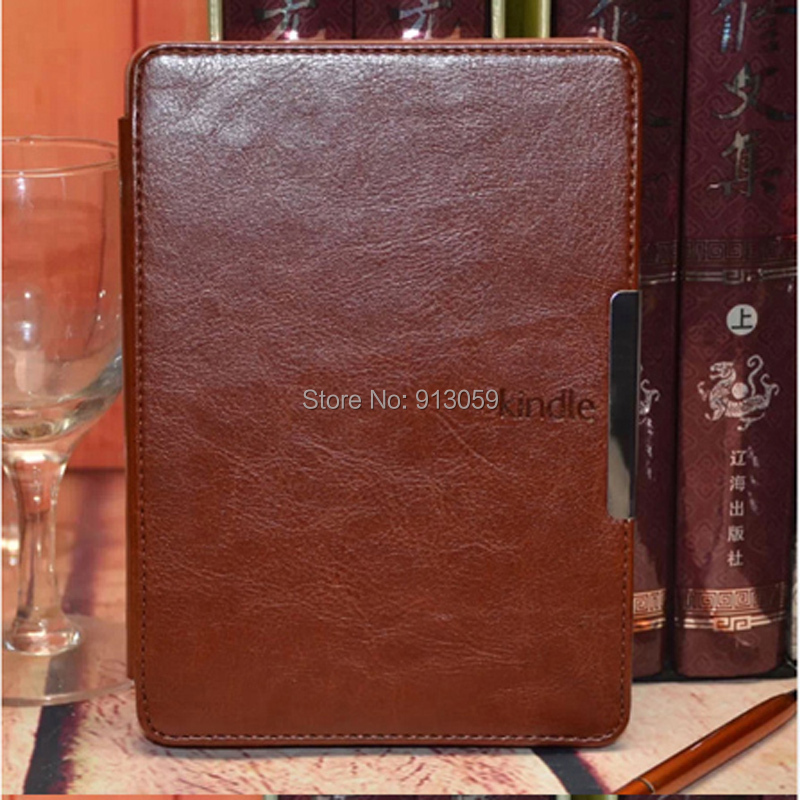 for Amazon kindle paperwhite 2013 6 screen ereader Smart PU leather skin cover case Wifi 3G