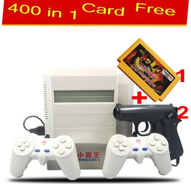 Consola de videojuegos de 8 bits para fc nes videojuego + free 400 en 1 tarjeta de juego Subor TV jugador del juego con 2 Joystick Clásico tiro