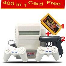 Vidéo jeu console 8 bits pour fc nda jeu vidéo + livraison 400 en 1 carte de jeu Subor TV joueur de jeu avec 2 Joystick de tir Classique