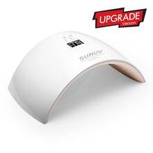 SUN9X плюс 36 Вт LED Сушилка для ногтей с ЖК-дисплей таймер и кнопка 18 светодиодов ультрафиолетовой ногтей Лампа для Гвозди УФ Гель-лак Дизайн ногтей