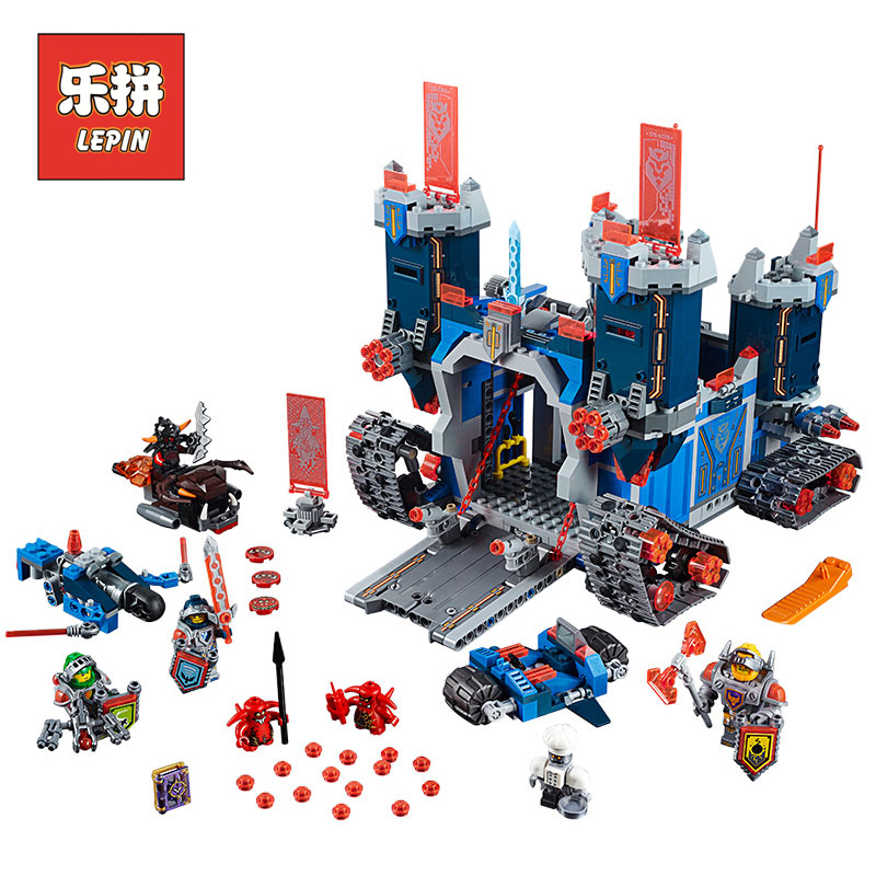 купить Lepin 14006 Nexoes Set Knights the Fortrex Castle Building Blocks Bricks Compatible 70317 Toys For Children Boy Birthday Gifts по цене 2419.9 рублей