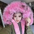 2016 New Winter Luxurious Large Fox Fur Coat Women's Long Loose Down Cotton Coats Outerwears Plus Size Parkas YR28