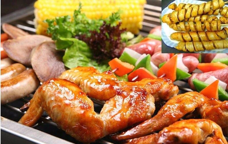 Wurstschneider Spirale Grill Hot Dogs Küche Schneiden 2 Stücke