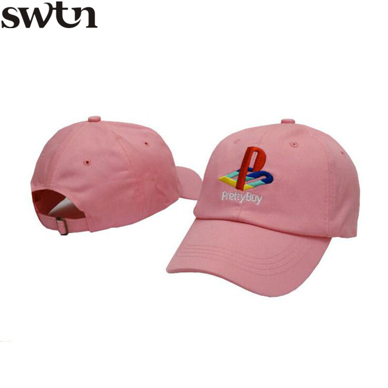 2017 SWTN Pretty Boy Baseball Cap Playstation Hat Adjustable Snapback Strapback Dad Hat Men Women Hat Bones Masculino hater strapback cap hater hardware ldn collab full snake skins baseball hat original adjustable hiphop swag womens