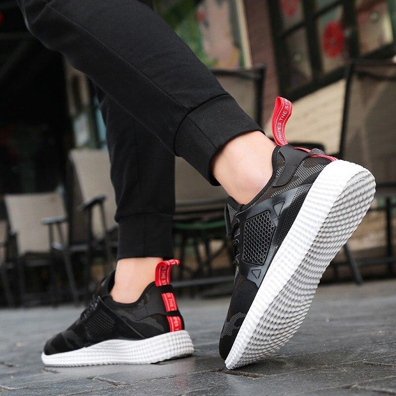 Printemps baskets hommes chaussures décontractées Air Mesh chaussures pour hommes mocassins noir mode baskets hommes formateurs