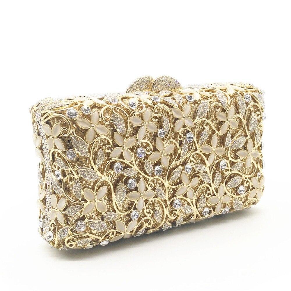 Minaudière Parti Main Gold Or À Embrayage Sac Xiyuan Sacs D'embrayage Cristaux Diamant argent Mini Luxe Soirée Mariage silver Gros Femmes De SCfwtqt